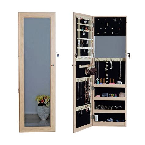 full length mirror jewelry armoire cabinet chest  lock
