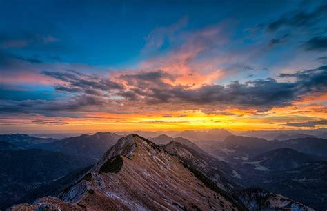 landscape, Mountains, Peaks, Snow, Nature, Sunrise, Sky ...
