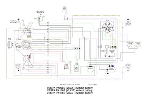 vespa p200e electric diagram wiring diagram and schematics
