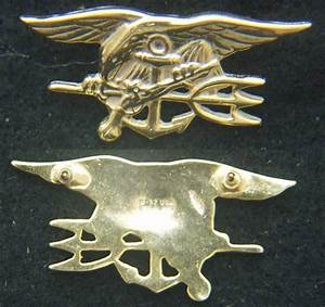 US Navy Seals Insignia Sterling / Gold Plate Mess Dress ...