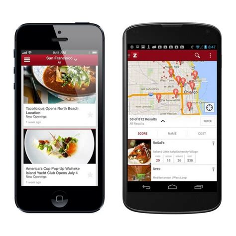 application cuisine android launches zagat android app and website makes