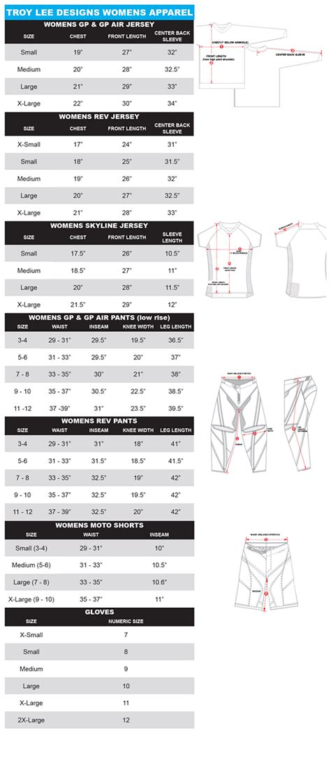 lee riders size chart