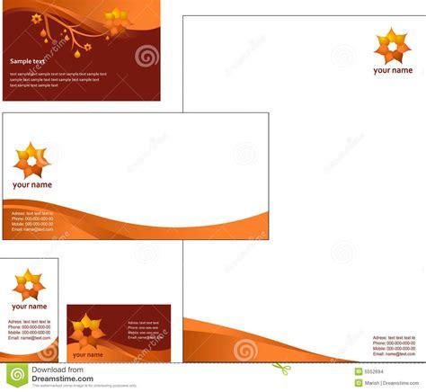 letterhead template design vector stock images image