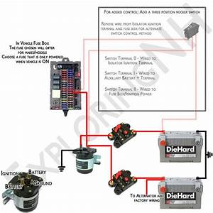 Motorhome Battery Isolator Diagram