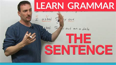 Learn English Grammar The Sentence  Youtube