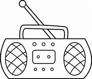 Radio Coloring Page - Free Clip Art