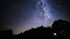 Time-lapse of rotating night sky with Milky Way galaxy and ...