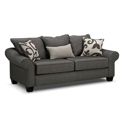 value city furniture sleeper sofa colette gray sofa value city furniture