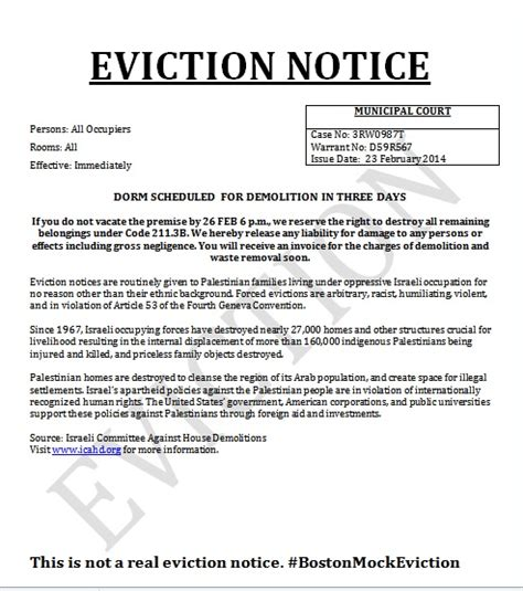 eviction notice cus eviction notices are but their anti semitism is real experts say jns org