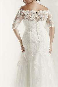 jewel 3 4 sleeve trumpet plus size wedding dress style With 3 4 sleeve wedding dress plus size