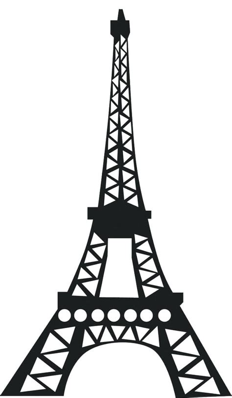eiffel tower drawing outline    clipartmag