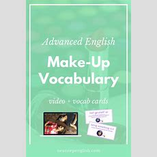 Video Advanced English Makeup Vocabulary (with Phrasal Verbs