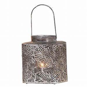 Dänisches Bettenlager Laterne : laterne metall silberfarbend 18 cm hoch f r ~ Watch28wear.com Haus und Dekorationen
