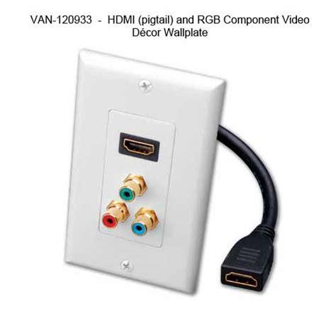 audio wallplates vanco slim line series cableorganizer