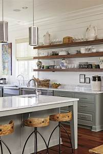 long wooden planks for open shelving in a south carolina With kitchen cabinets lowes with planked wall art