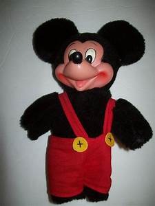 Vtg Applause Mickey Mouse Plush Rubber Face Stuffed Doll ...