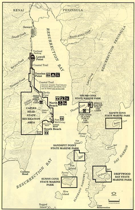 Resurrection Bay Area map - Soldotna AK 99669 • mappery