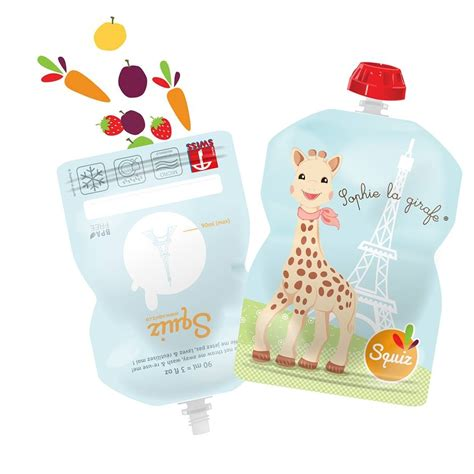 cuisine maman squiz reusable food pouches for babies la girafe