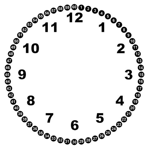 numeral clock worksheets blank clock faces clipart best