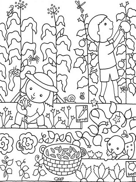 pin  carrie ridley  crafts garden coloring pages