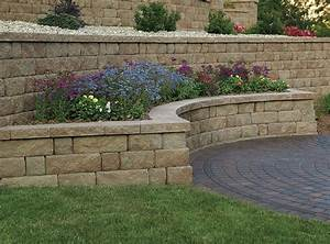 Retaining walls and seating enhance pavers