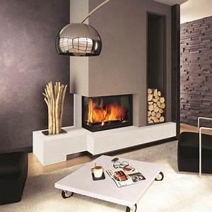 Cheminée Bois Design : cheminee a foyer ferme ~ Premium-room.com Idées de Décoration