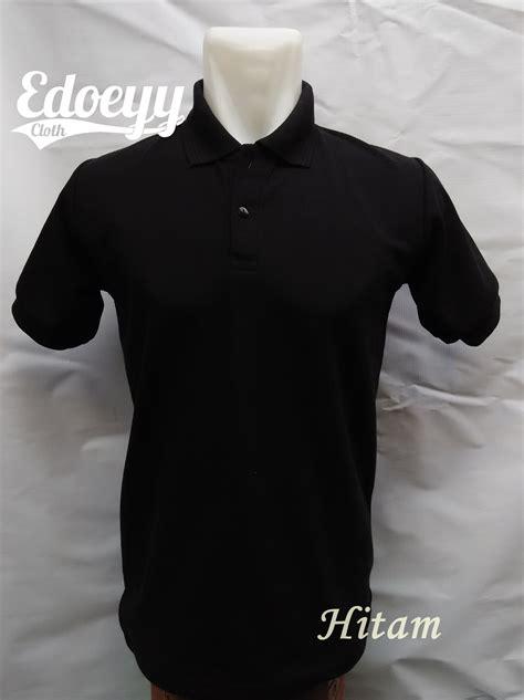 jual polo shirt hitam baju kaos kerah  shirt