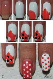 Cute bear nail art diy alldaychic