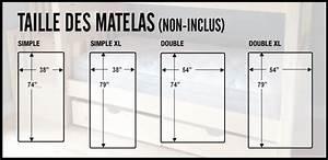 Lit Simple Dimension : taille standard matelas maison design ~ Teatrodelosmanantiales.com Idées de Décoration