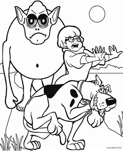 Scooby Doo Coloring Pages Monster Printable Monsters