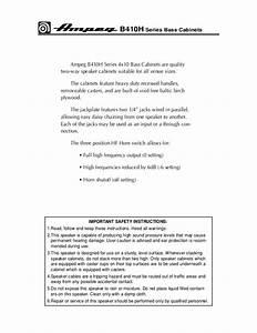 Ampeg B410he Bas Gitar Kabini Kullanim Klavuzu Manual