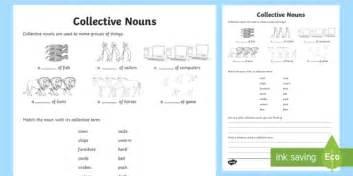 collective nouns worksheet activity sheet collective nouns