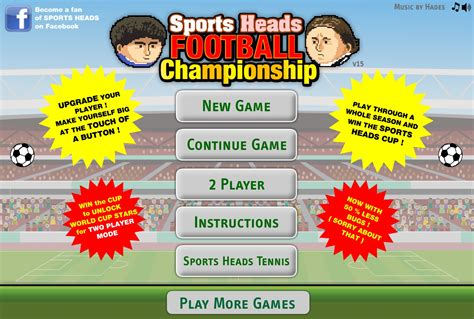 Pin Football Games Online For Kids Free To Play Facebook