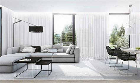 Modernes Wohnzimmer Grau by 15 Modern White And Gray Living Room Ideas Home Design Lover