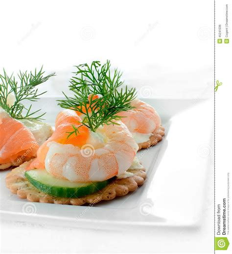 m and s canapes seafood salad canapes stock photo image 45241036