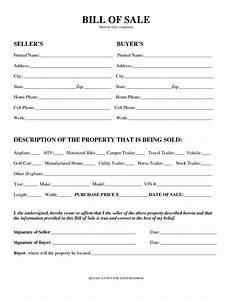printable sample equipment bill of sale template form With trade bill of sale template