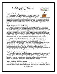 constructing meaning lesson plans worksheets reviewed by teachers