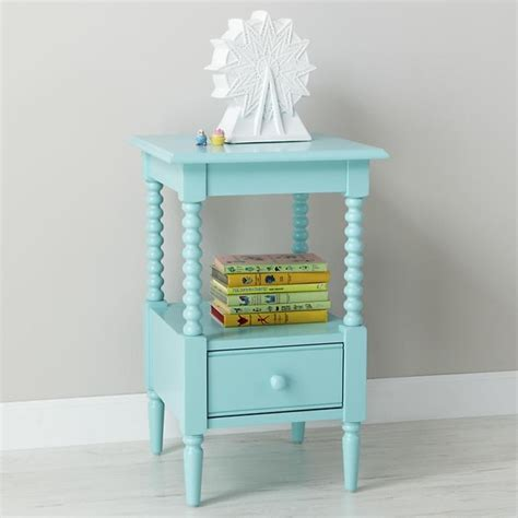 Spindle Nightstand by Lind Nightstand Azure Contemporary Nightstands