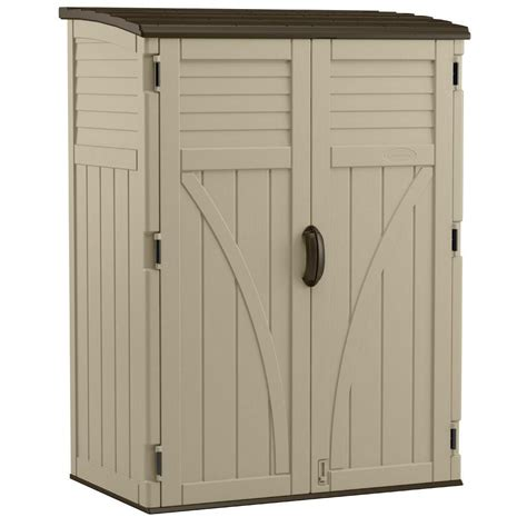 Suncast Outdoor Vertical Storage Shed by Suncast Vertical Storage Shed 54 Cu Ft The Home Depot