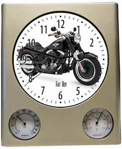 Harley Davidson Wanduhr : wanduhr motiv harley davidson fat boy schwarz uhr neu ebay ~ Whattoseeinmadrid.com Haus und Dekorationen