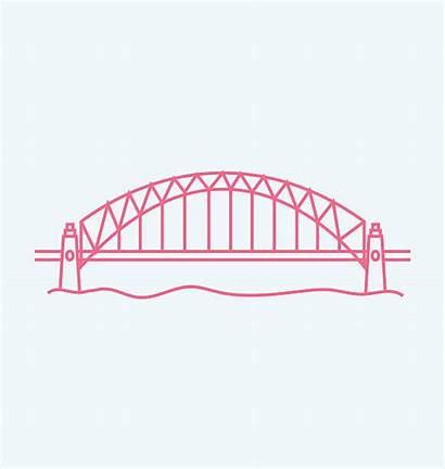 Bridge Sydney Harbor Clip Harbour Vector Illustrations