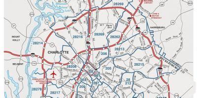 zip code map charlotte nc charlotte north carolina zip