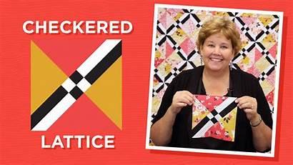 Quilt Lattice Star Tutorials Checkered Quilts Pattern