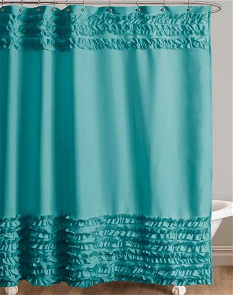 turquoise fabric shower curtain everything turquoise