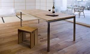 Tisch Ausziehbar Holz : tisch nach mass linoleum chromstahl onlineshop ~ Frokenaadalensverden.com Haus und Dekorationen