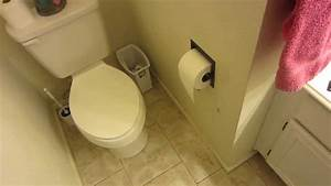 The geek redneck installing a recessed toilet paper for Placement of toilet paper holders in bathrooms