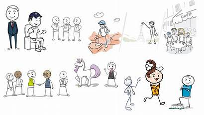 Stick Figure Character Whiteboard Styles Animation Wizmotions