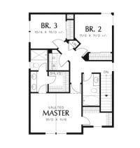 Craftsman Style House Plan 3 Beds 2 5 Baths 1610 Sq/Ft