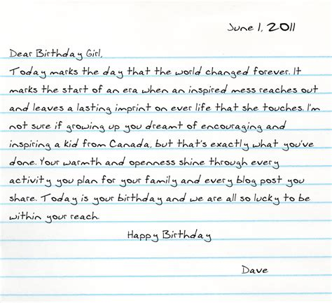 happy birthday letter  girlfriend levelings