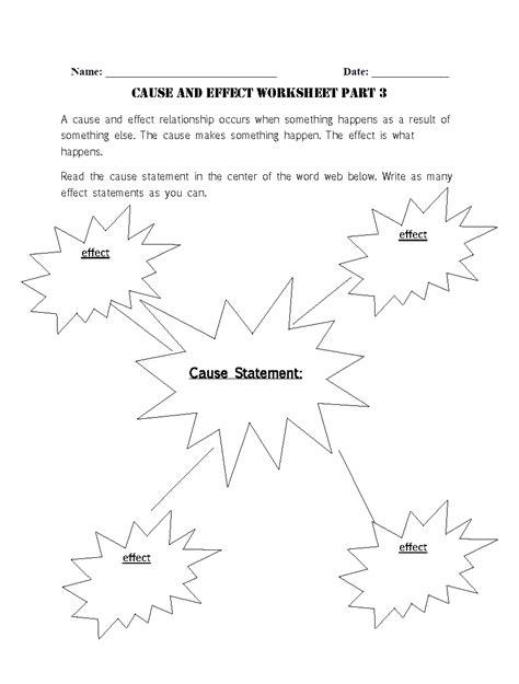 reading worksheets   effect worksheets